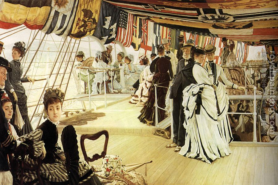 James Tissot : The Ball on Shipboard