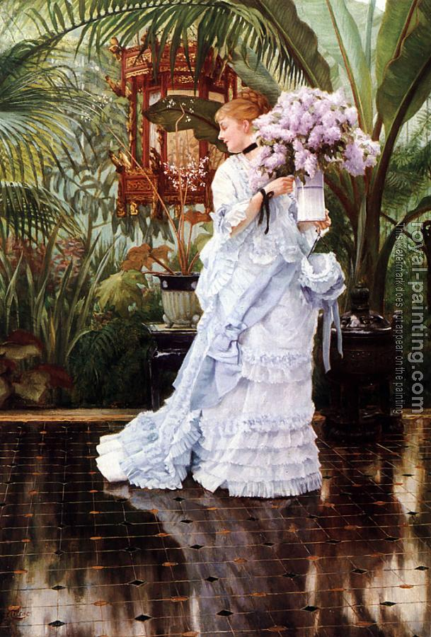 James Tissot : The Bunch of Lilacs