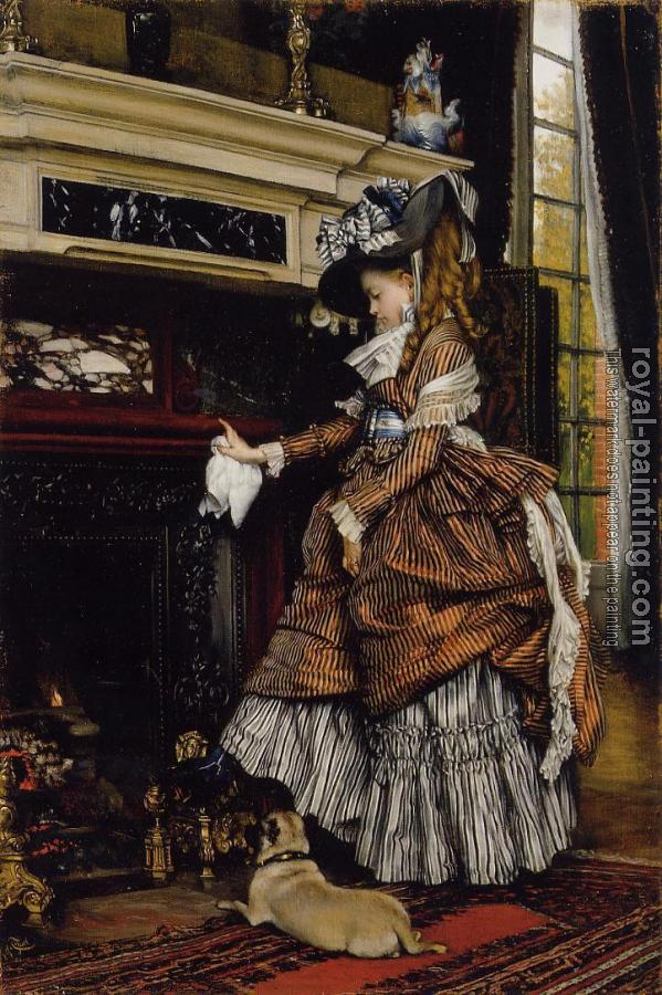 James Tissot : The Fireplace