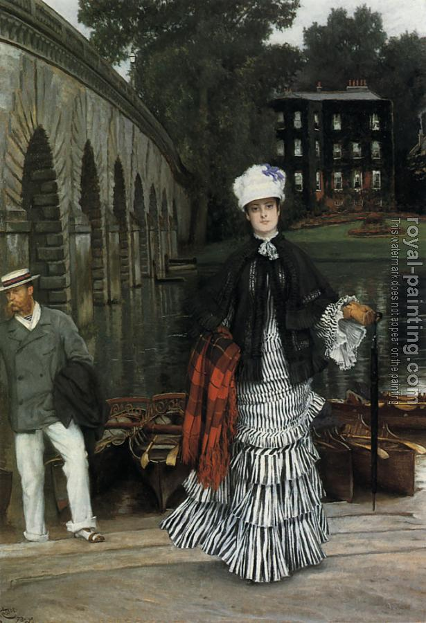 James Tissot : The Return from the Boating Trip