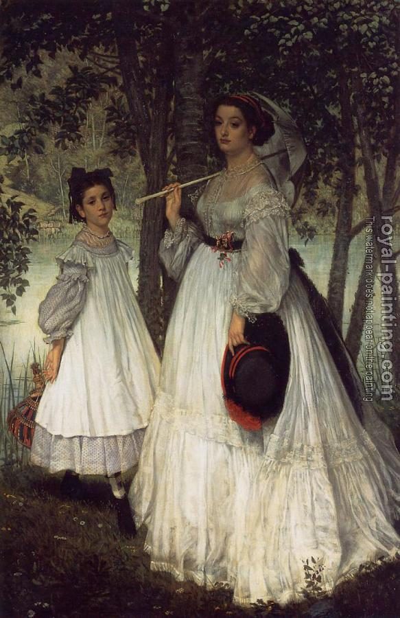 James Tissot : The Two Sisters Portrait