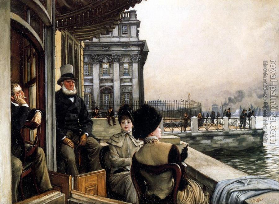 James Tissot : TheTerrace Of The Trafalgar Tavern Greenwich London