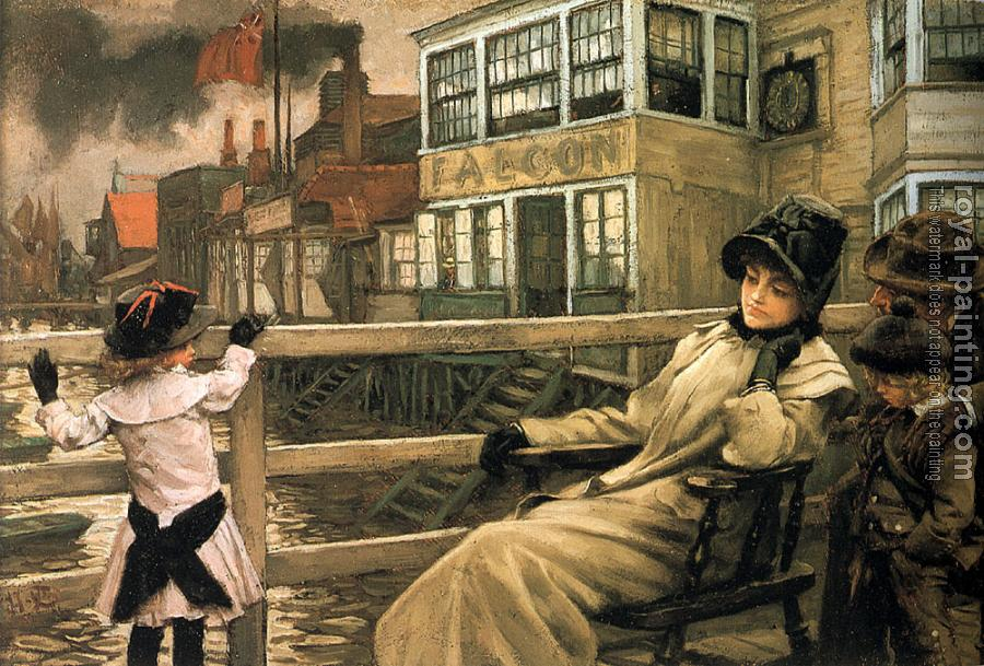 James Tissot : Waiting for the Ferry II
