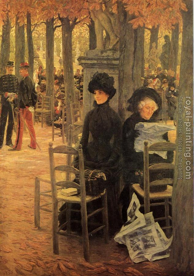 James Tissot : Without a Dowry aka Sunday in the Luxembourg Gardens