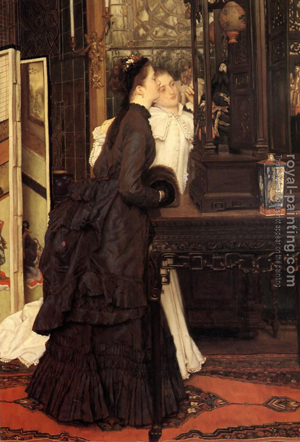James Tissot : Young Ladies Looking at Japanese Objects
