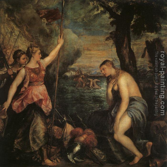 Titian : Spain Succouring Religion