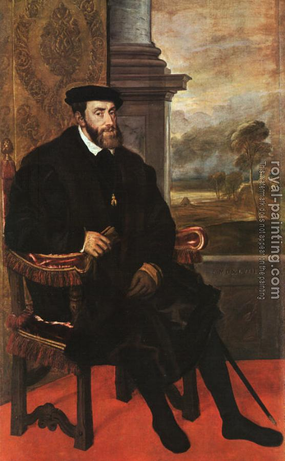 Titian : Charles V Seated
