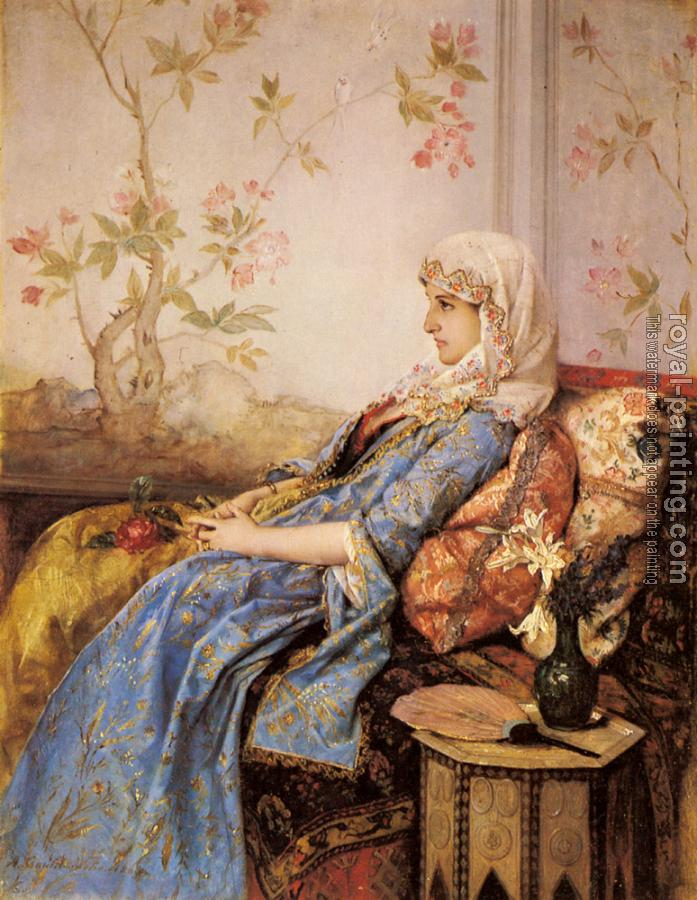 Auguste Toulmouche : An Exotic Beauty in an Interior