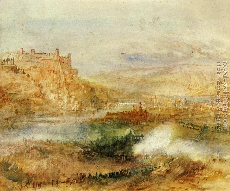 Joseph Mallord William Turner : Ehrenbrietstein and Coblenz