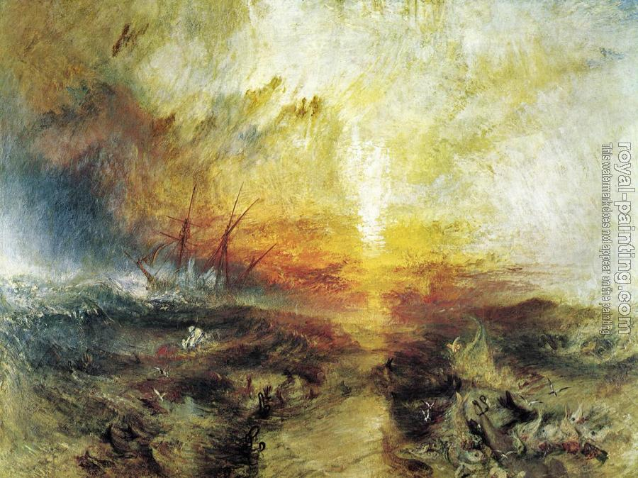 Joseph Mallord William Turner : Slavers Throwing Overboard the Dead and Dying,Typhoon Coming On