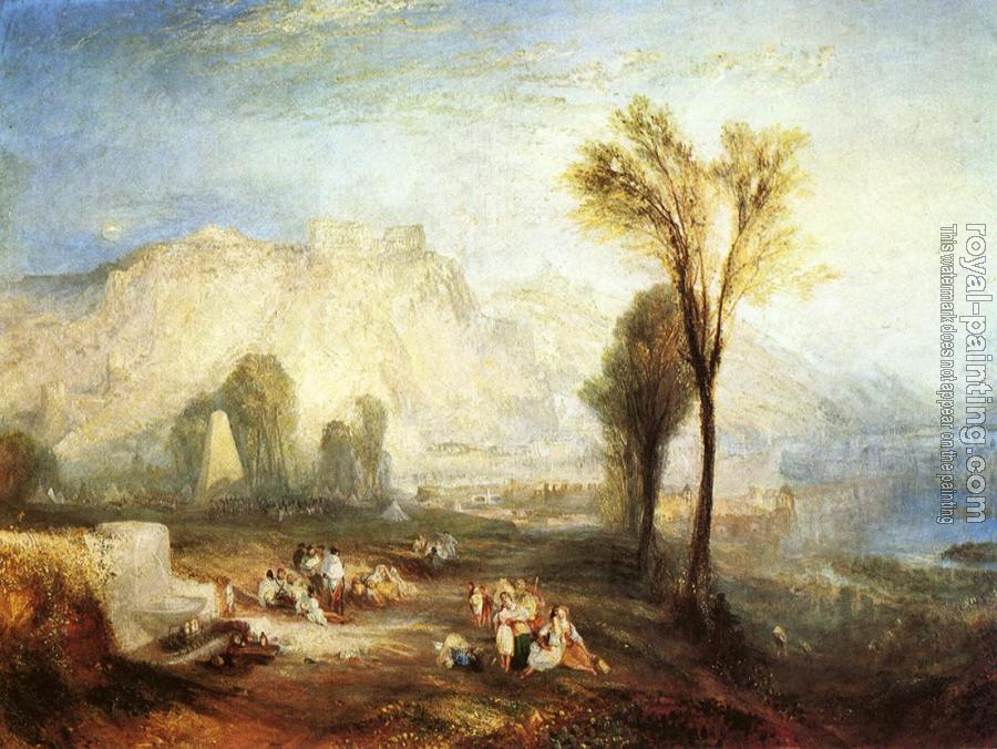 Joseph Mallord William Turner : The Bright Stone of Honor,Ehrenbrietstein,and the Tomb of Marceau, from Byron's Childe Harold