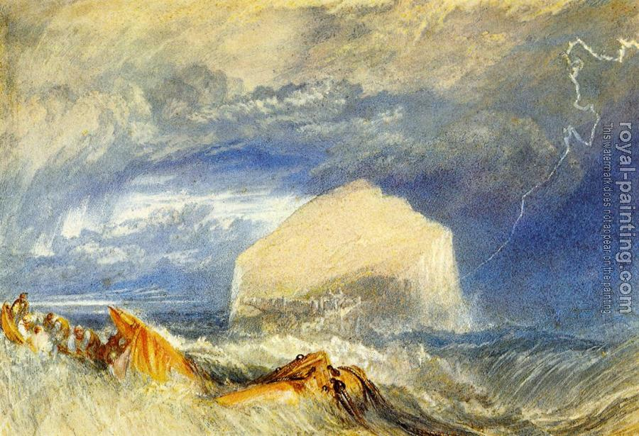 Joseph Mallord William Turner : The Bass Rock,for 'The Provincial Antiquities of Scotland