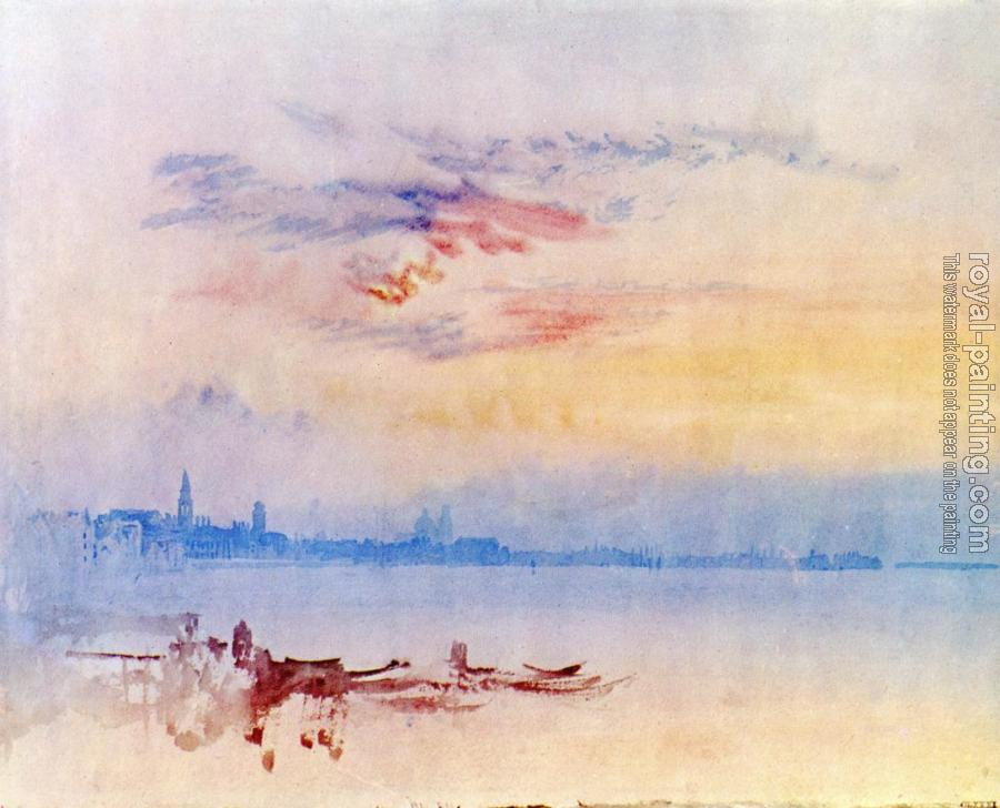 Joseph Mallord William Turner : Venice, Looking East from the Guidecca,Sunrise