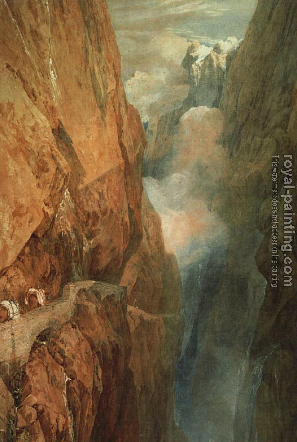 Joseph Mallord William Turner : The Passage of the St. Gothard
