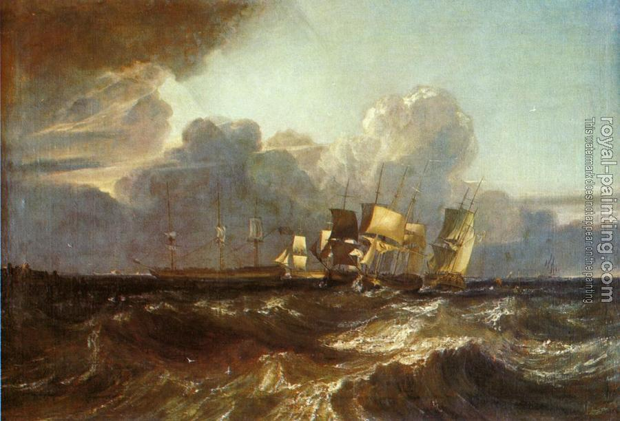 Joseph Mallord William Turner : Ships Bearing Up for Anchorage