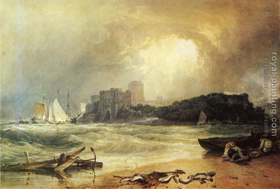 Joseph Mallord William Turner : Pembroke Caselt, South Wales,Thunder Storm Approaching
