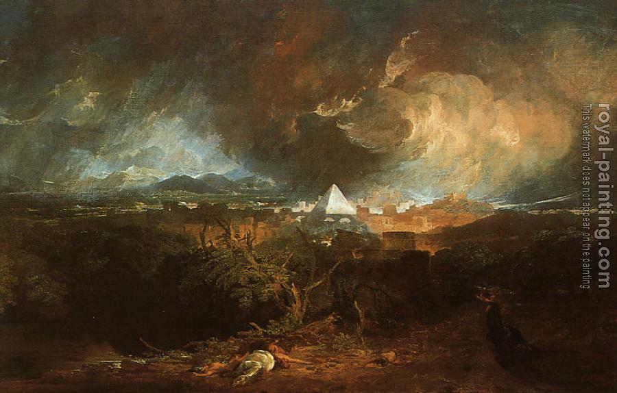 Joseph Mallord William Turner : The Fifth Plague of Egypt