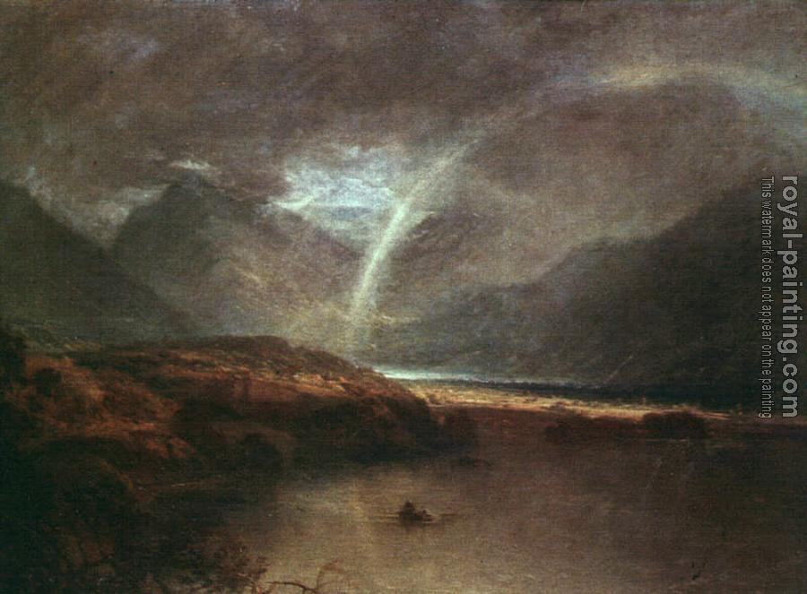Joseph Mallord William Turner : Buttermere Lake,A Shower