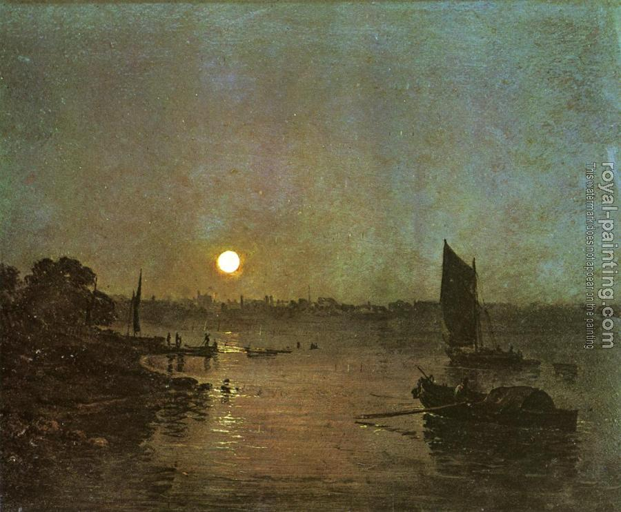 Joseph Mallord William Turner : Moonlight, A Study at Millbank