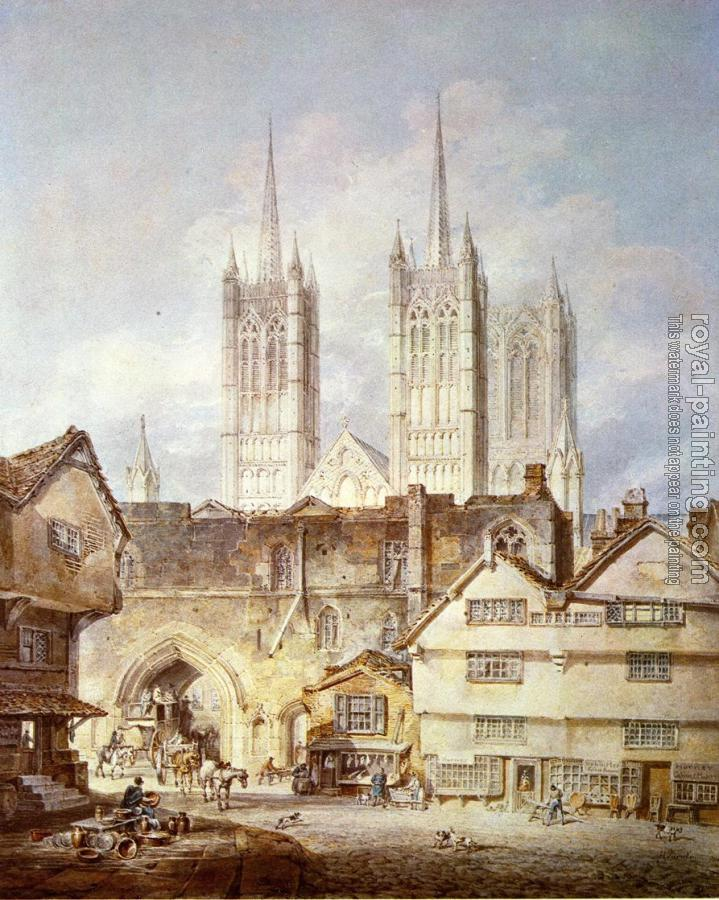 Joseph Mallord William Turner : Cathedral Church at Lincoln