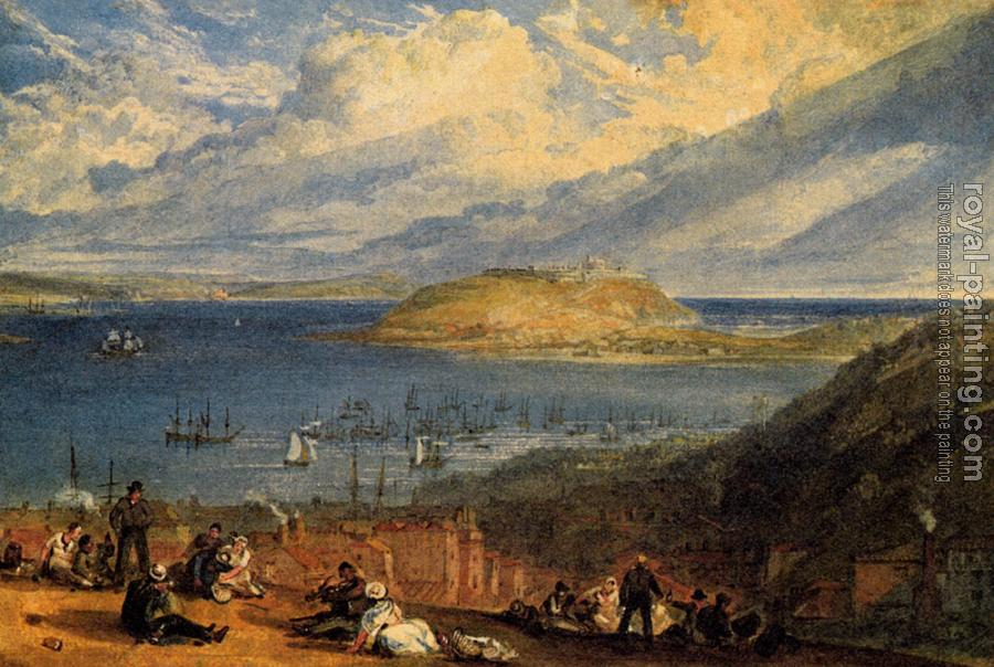 Joseph Mallord William Turner : Falmouth Harbour, Cornwall