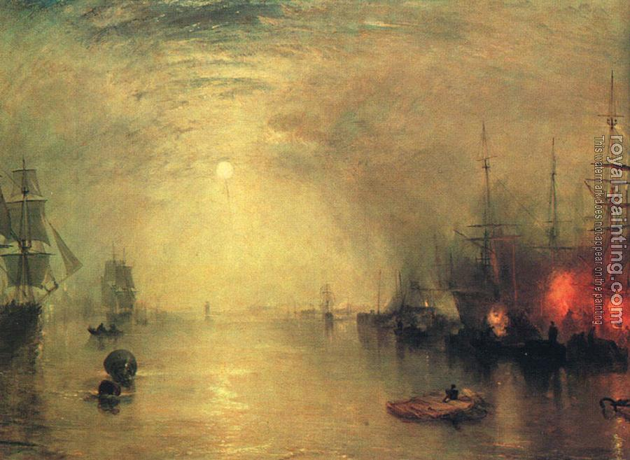 Joseph Mallord William Turner : Keelman Heaving in Coals by Night