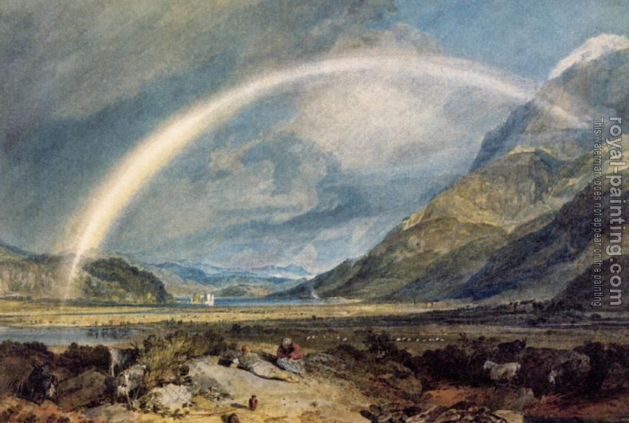 Joseph Mallord William Turner : Kilchern Castle, with the Cruchan Ben Mountains, Scotland Noon