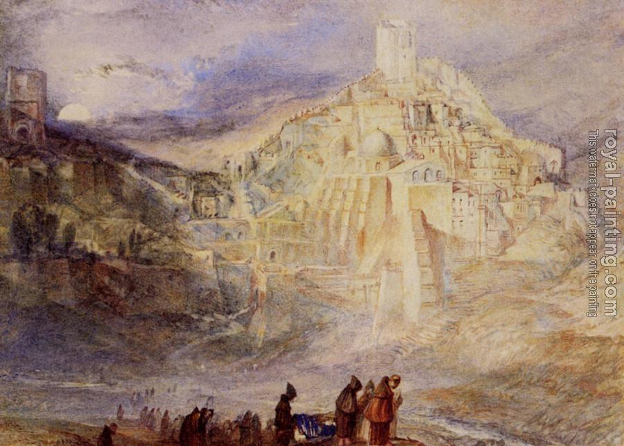 Joseph Mallord William Turner : Santa Sabes and the Brook Kedron