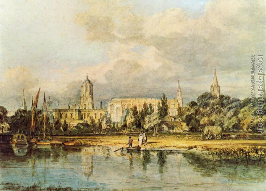 Joseph Mallord William Turner : South View of Christ Church, etc., from the Meadows