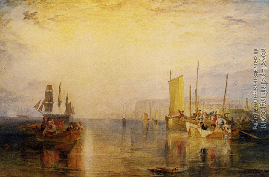 Joseph Mallord William Turner : Sunrise. Whiting Fishing at Margate