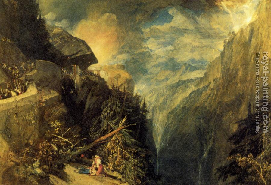 Joseph Mallord William Turner : The Battle of Fort Rock, Val d'Aoste, Piedmont