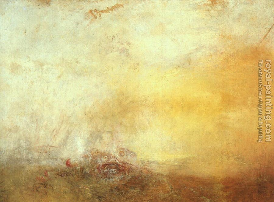Joseph Mallord William Turner : Sunrise, with a Boat between Headlands