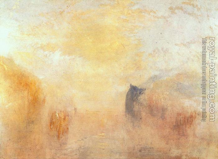 Joseph Mallord William Turner : Sunrise, with a Boat between Headlands II