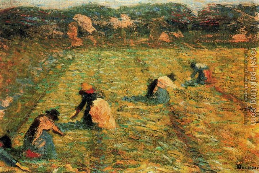 Umberto Boccioni : Farmers at work (Risaiole)