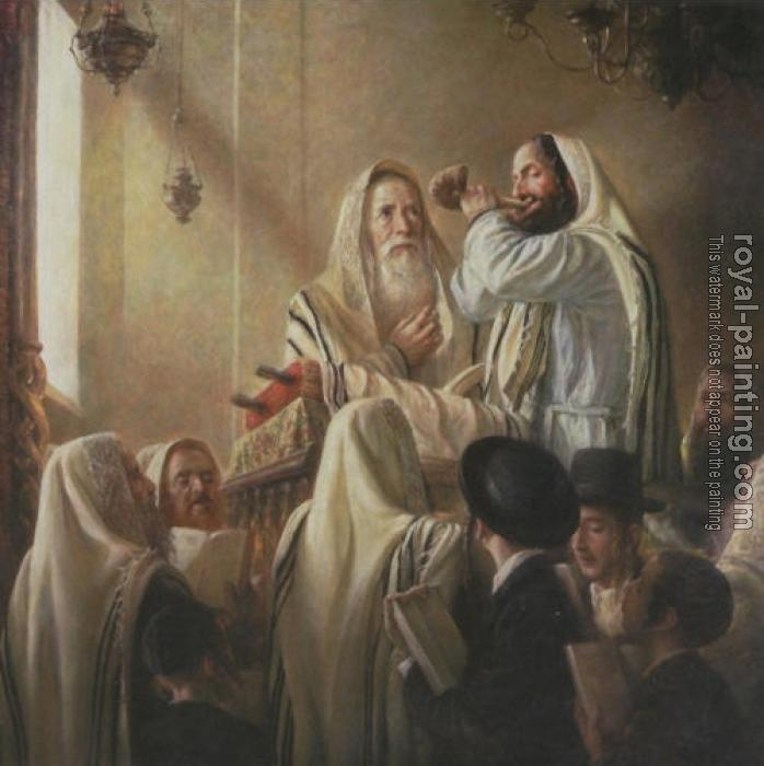 Jewish Art By Hand Painted Oil Painting Reproduction 28422