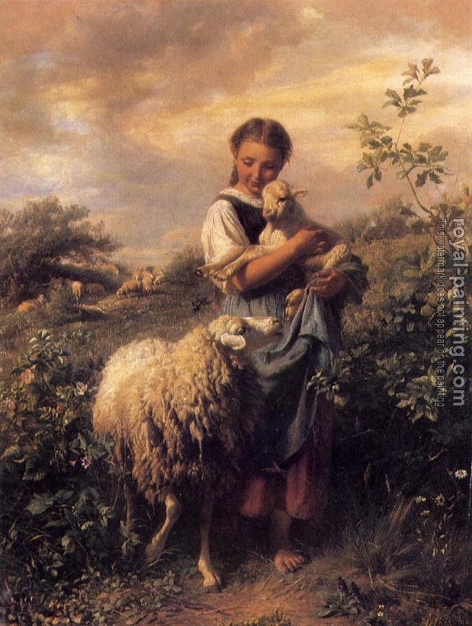 Hand Painted : The Shepherdess