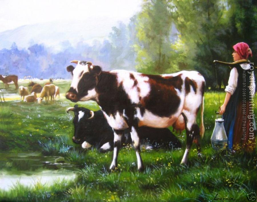 Hand Painted : cow