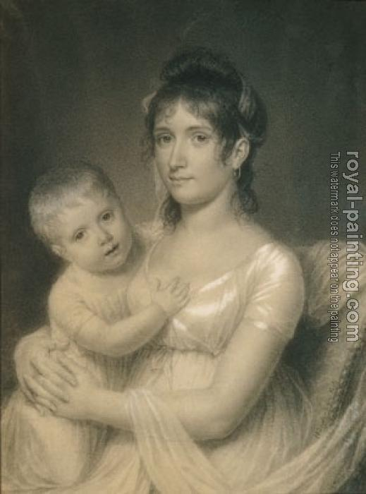 John Vanderlyn : Mrs. Daniel Strobel, Jr. (Anna Church Strobel) and Her Son, George