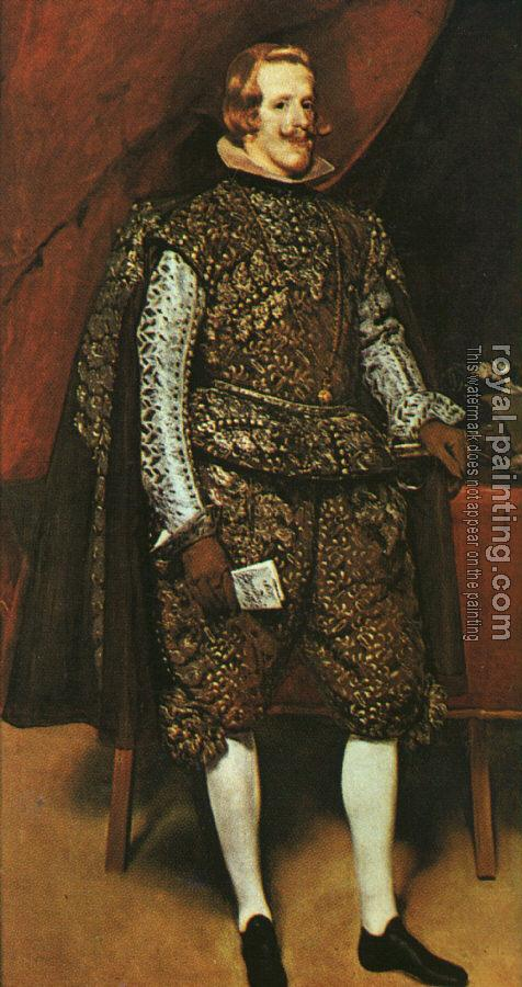 Diego Rodriguez De Silva Velazquez : Philip IV in Brown and Silver
