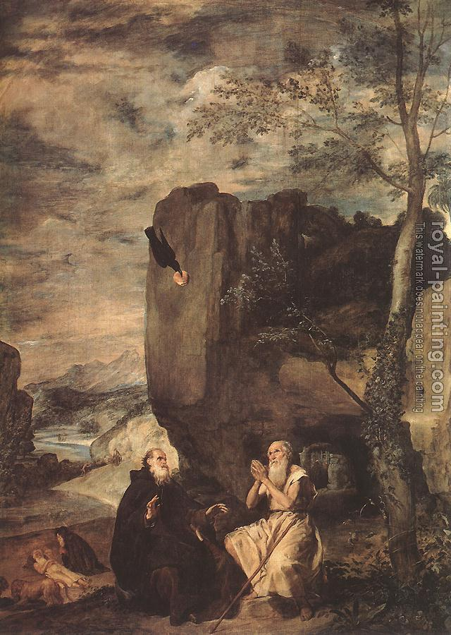 Diego Rodriguez De Silva Velazquez : Sts Paul the Hermit and Anthony Abbot