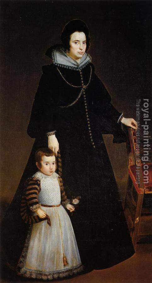 Dona Antonia de Ipenarrieta y Galdos and her Son Luis