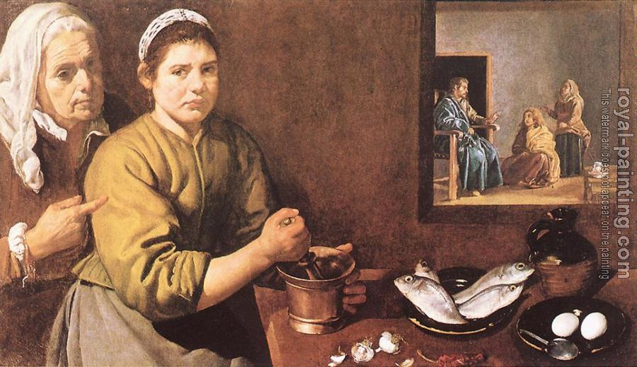 Diego Rodriguez De Silva Velazquez : Christ in the House of Mary and Martha