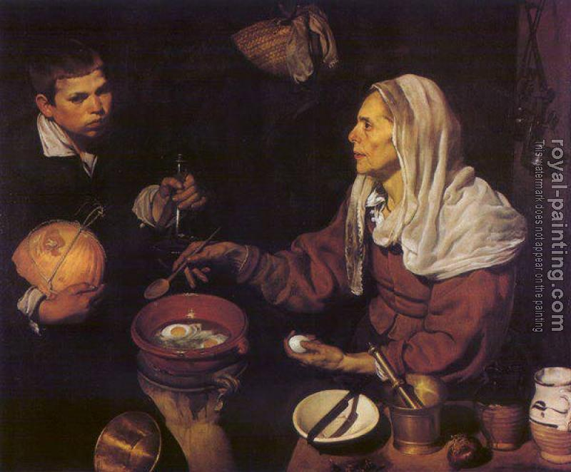 Diego Rodriguez De Silva Velazquez : An Old Woman Cooking Eggs