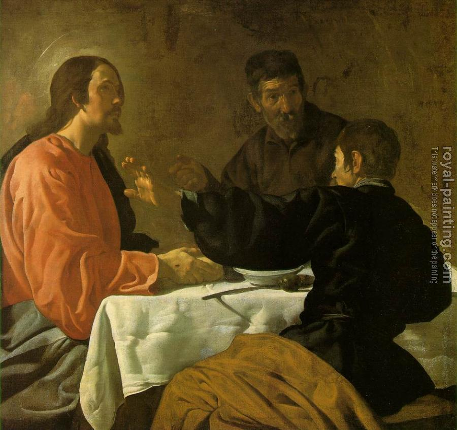Diego Rodriguez De Silva Velazquez : Supper at Emmaus