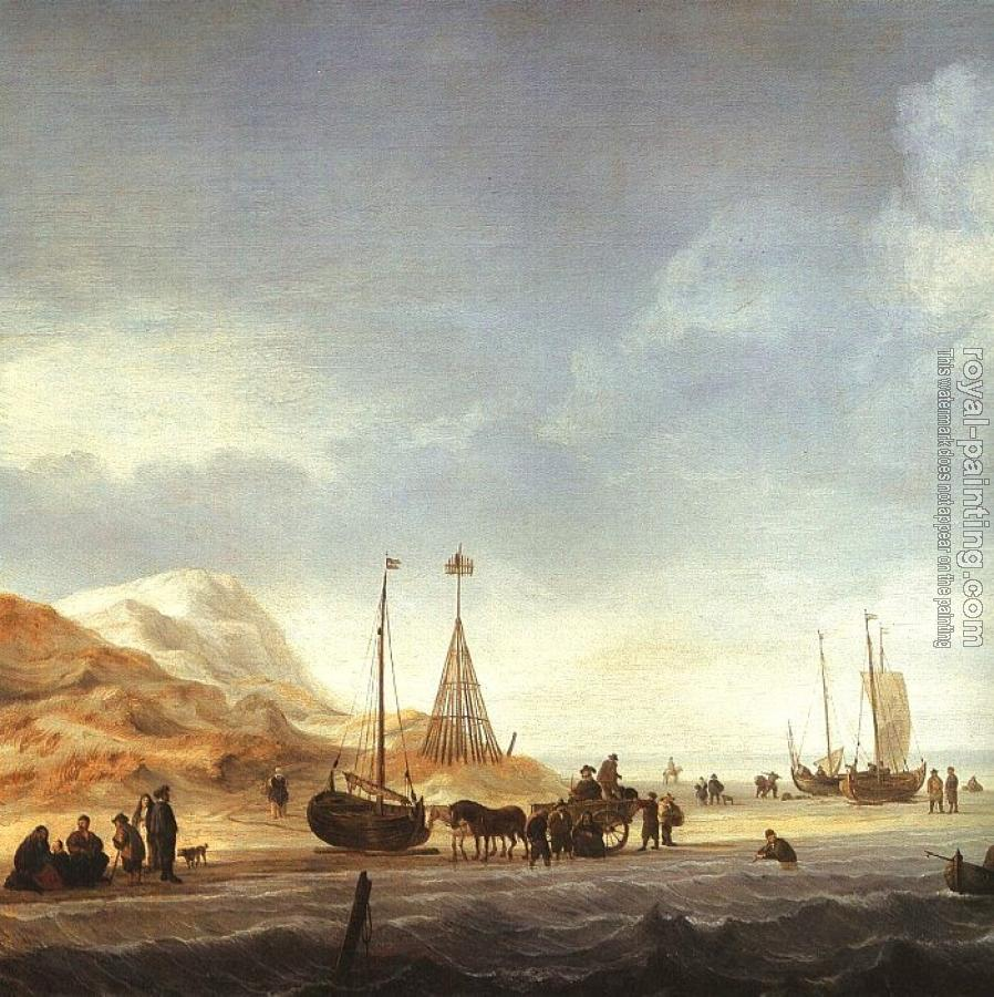Willem Van De Velde The Younger : Beach Scene