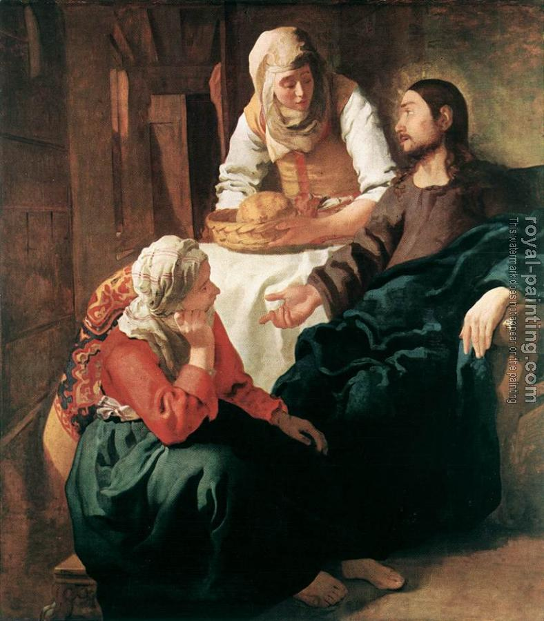 Jan Vermeer : Christ in the House of Martha and Mary