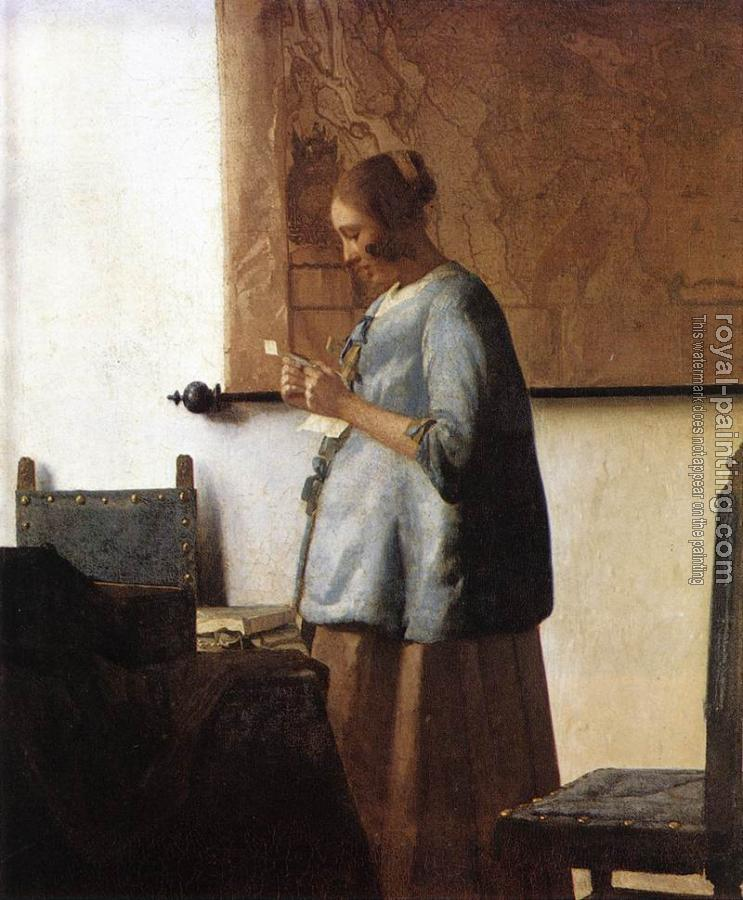 Johannes Vermeer : Woman in Blue Reading a Letter