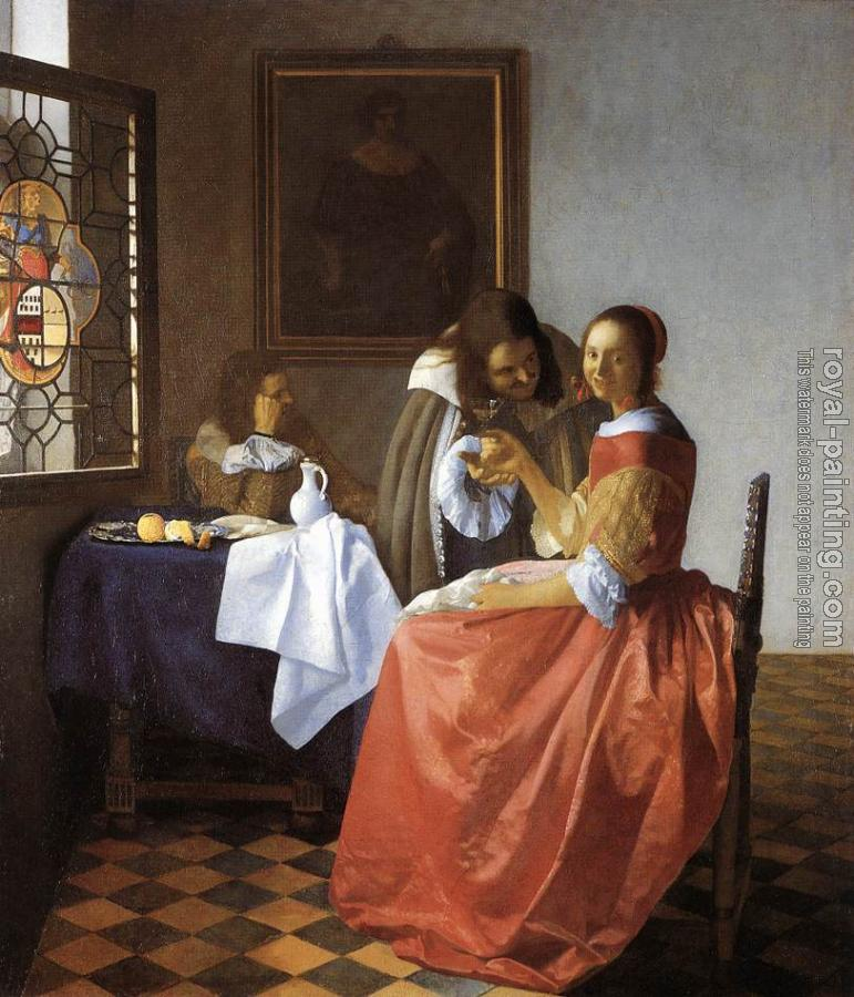 Johannes Vermeer : A Lady and Two Gentlemen