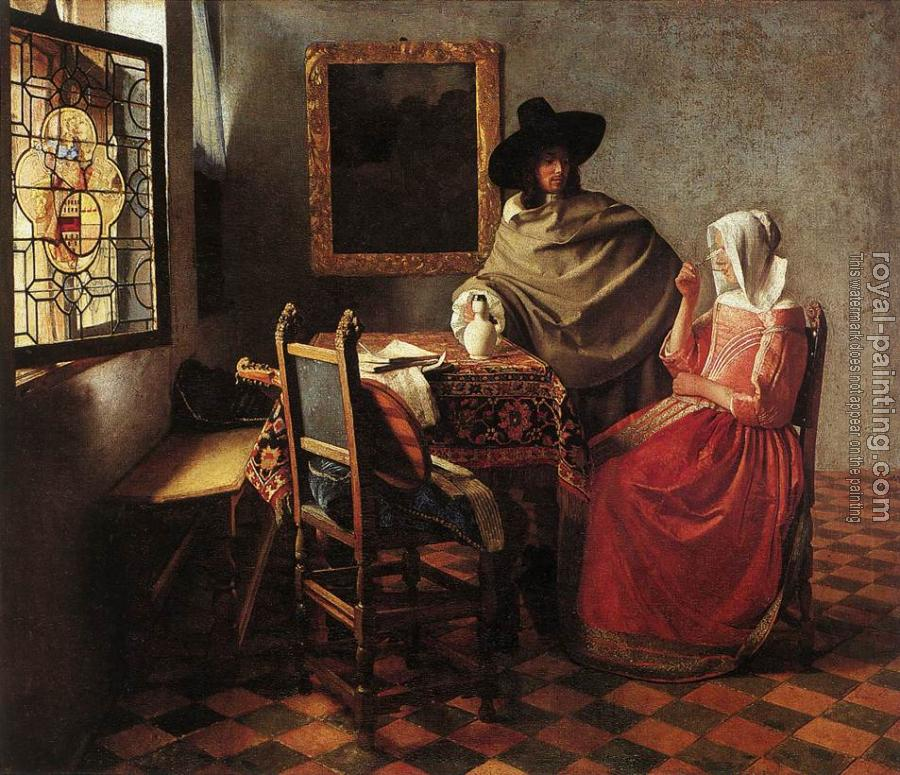 Johannes Vermeer : The glass of wine