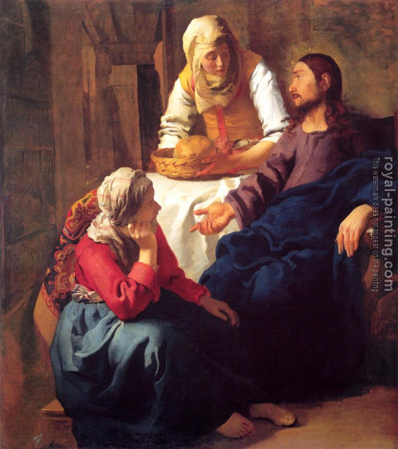 Johannes Vermeer : Christ in the House of Martha and Mary